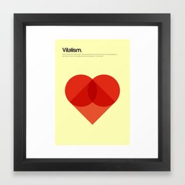Vitalism Framed Art Print