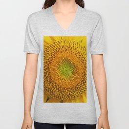 Bright yellow sunflower - close up Unisex V-Neck