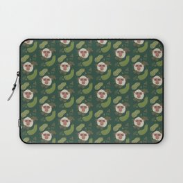 Macaques & Squash (forest green) Laptop Sleeve