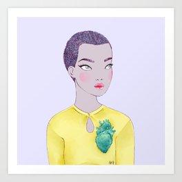 cactus heart ii Art Print