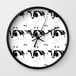 Cow Pattern Wall Clock