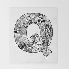 Cutout Letter Q Throw Blanket