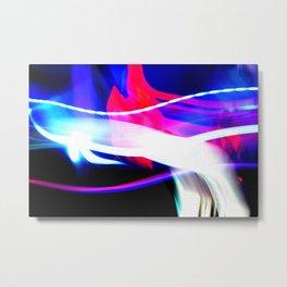 Photo Light Painting Metal Print