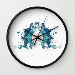 Inkdala VI (Rorschach) Wall Clock
