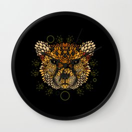 Cheetah Face Wall Clock