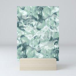 Marble Mist Green Grey Mini Art Print