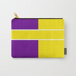 Team Colors 6....Yellow,purple Carry-All Pouch