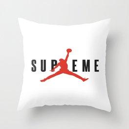 supreme jump Throw Pillow