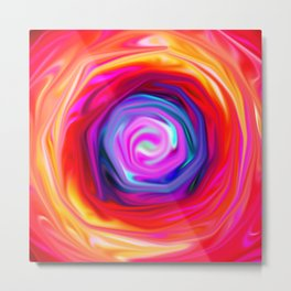 Rose abstract Metal Print