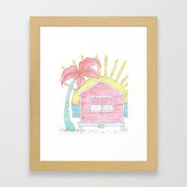Beach Shack Vibes Framed Art Print