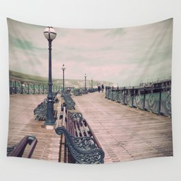 Swanage Pier Antique Wall Tapestry