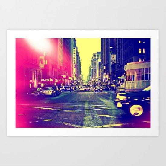 6th Ave Art Print