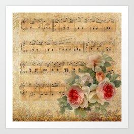 Vintage Music #1 Art Print