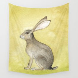 Goldenrod Hare Wall Tapestry