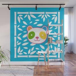 Rainbow Panda Wall Mural