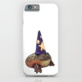 Chunky Toad Wizard Frog Humor Halloween Costume Pet Portrait iPhone Case