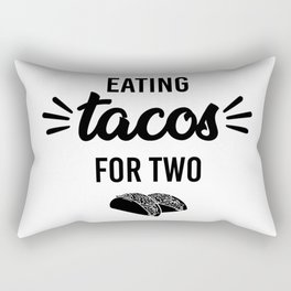 Eating tacos for two. Pregnancy announcement maternity shirt Rectangular Pillow