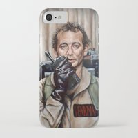 bill iPhone & iPod Cases featuring Bill Murray / Ghostbusters / Peter Venkman by Heather Buchanan