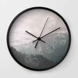 Dreamy Outdoor Mountain Landscape Wall Clock