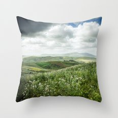 Hills of Sicily Throw Pillow