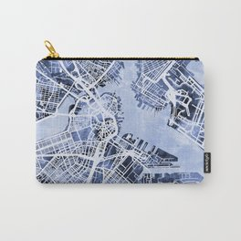 Boston Massachusetts Street Map Carry-All Pouch