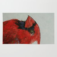 cardinal Area & Throw Rugs featuring Cardinal by Michael Creese
