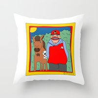 blackhawks Throw Pillows featuring Sooner by GOONS