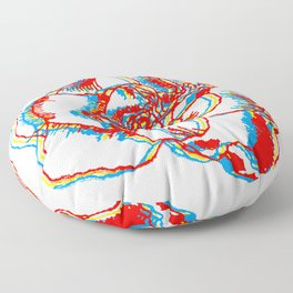 Glitch gardenia - primaries Floor Pillow