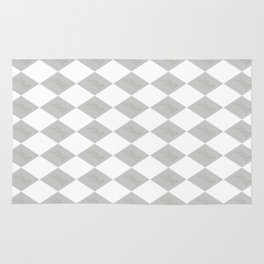 Mr and Mrs (Gray and White) Rug