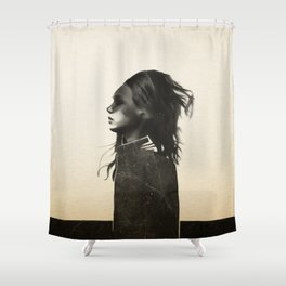 Unusual Encounter Shower Curtain