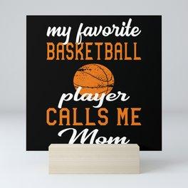 Basketball Mom Gift Idea Mini Art Print