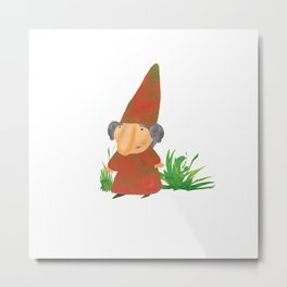 Wilhelmina the Gnome Metal Print