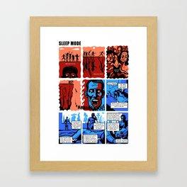 SLEEP MODE Framed Art Print