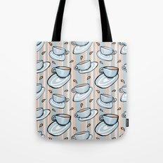 Cups Medley Blue Stripes Tote Bag