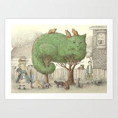 The Night Gardener - The Cat Tree Art Print