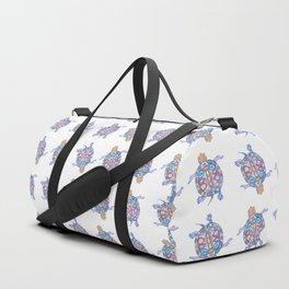 Sea Turtle - Aqua Blue Palette | Folk design Duffle Bag