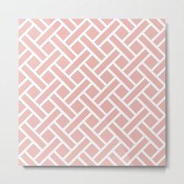 Geometric Trellis Weave Pattern 133 Metal Print