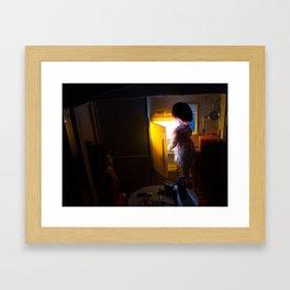 Cheating at Midnight Framed Art Print