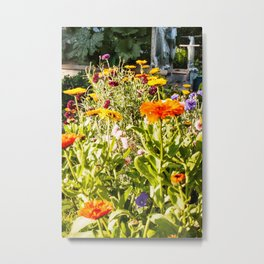 Flowers in the Garden Photography Print Metal Print