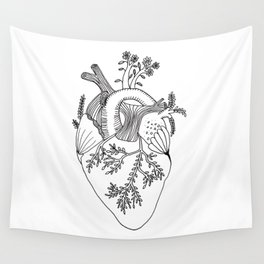 Growing heart Wall Tapestry
