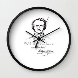 Edgar Allan Poe rare photo Wall Clock