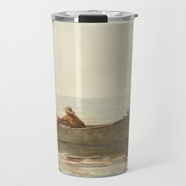 Winslow Homer - Three Boys in a Dory with Lobster Pots Travel Mug