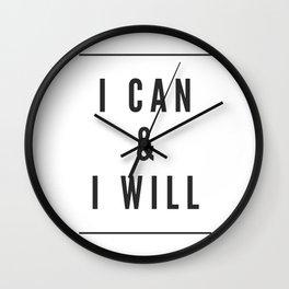I can & I will Wall Clock