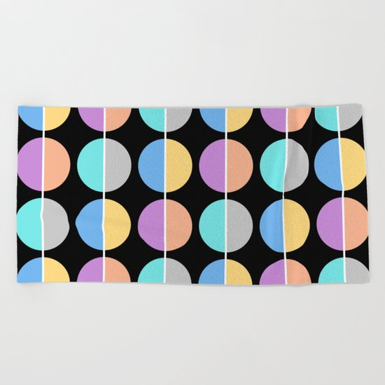 BACK TO THE 70's (abstract geometric pattern) Beach Towel