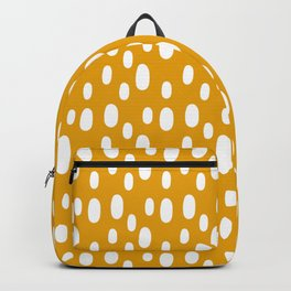 Yellow pattern with white spots Backpack