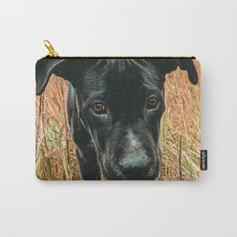 Doggy in the Field // Rust Filter Hiking by Rustic Abandoned Log Cabin Summit Colorado Carry-All Pouch