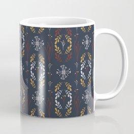Navy Blue Wildflower Coffee Mug
