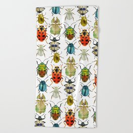 Beetle Compilation Beach Towel