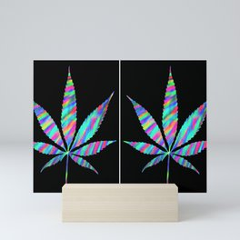 Weed : High Time Colorful Psychedelic Mini Art Print