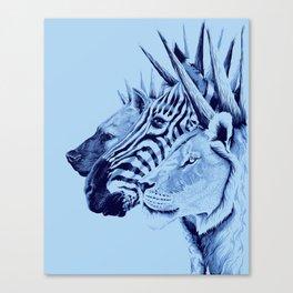 Mohawks of the Wild Kingdom Canvas Print